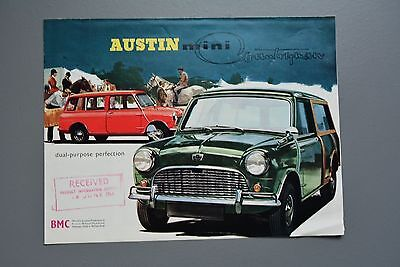 Vintage Brochure: Austin Mini Countryman Estate Art Poster 1966 No.2181/F