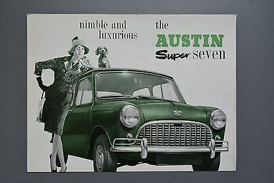 Vintage Brochure: Austin Mini Super Seven 850 Mk1 No.2050