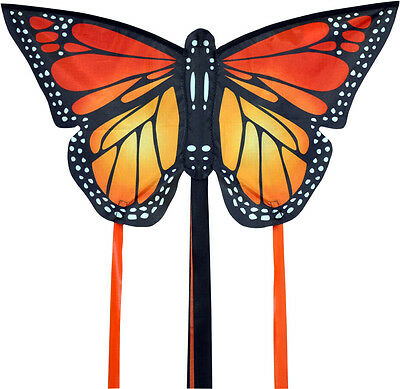 LARGE MONARCH BUTTERFLY KITE RED - EASY TO FLY KIDS KITE 140cm