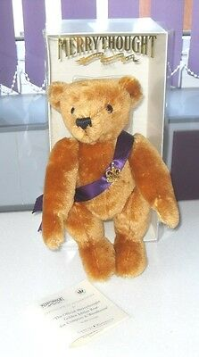 LIMITED EDITION of 2002 MERRYTHOUGHT Hope And Glory Golden Jubilee Teddy Bear