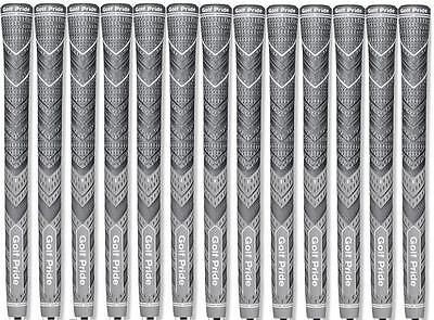 New - Golf Grips Multi Compound Golf Grips - 60 RND - Gray- Midsize - Set of 13