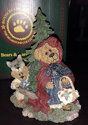 Boyds Bears Figurine – Lil' Red with B.B. Wolf . . . Going to Grandma's