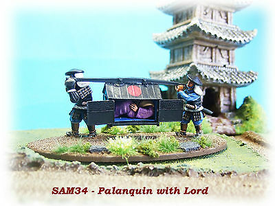 28mm Palanquin with Lord and 2 x Retainers