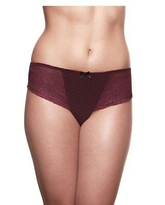 Bravado Maternity Brief Burgundy Lace Size S/m 12-14 Sublime Knickers Pant New