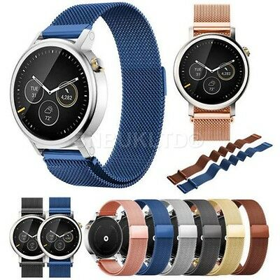 Milanese Stainless Steel Watch Band Strap For MOTO 360 2nd Gen Watch 42/46mm