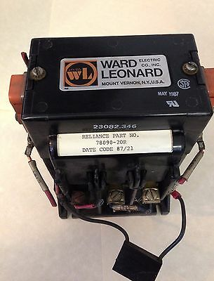 Ward Leonard 30A 600V DC Motor Contactor with reliance part 78090-20R