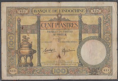 French Indochina 100 Piastres banknote P-51d ND 1920