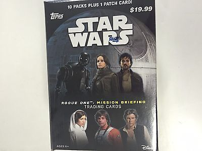 2016 Topps Star Wars Rogue One : Mission Briefing Blaster Box  ( 1 Patch Card )