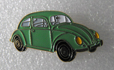 RARE Metal PIN pinback Volkswagen VW BEETLE green color MINT The Netherlands