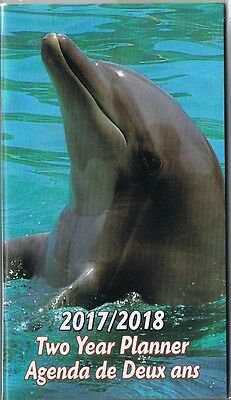 Dolphins  2017-2018 - 2 Year Pocket Calendar Planner Agenda Appointment Book