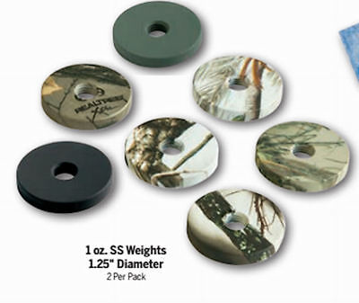 "Stokerized  archery -1.25"" diameter  Weights - 2 x 1 oz, Black ONLY!"