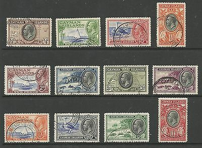 Cayman Islands Sg96-107  Gv 1935 Set Of 12 Very Fine Used Cat £200