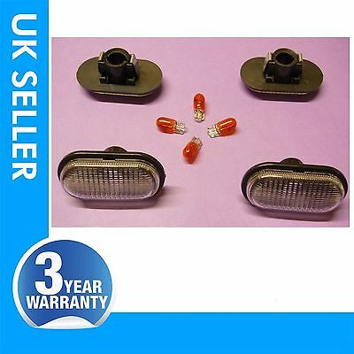 RENAULT Clio side indicator repeater lens light with bulbs white colour