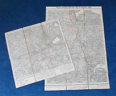 Two German Military Maps for Schleswig-Holstein Kaiser Manoeuvres 1890