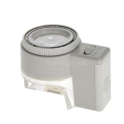 8x Adjustable Magnifier Jeweler Loupe LED Light Magnifying Glass With Scale R8C1