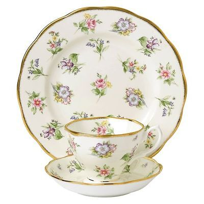 NEW Royal Albert 100 Years 1920 Spring Meadow 3-Piece Set
