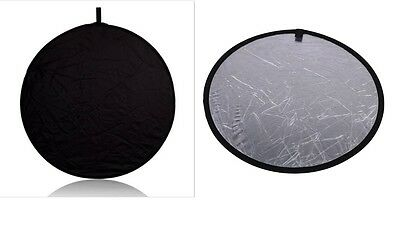 "24"" 60cm Silver Photography Studio Multi Photo Disc Collapsible Light Reflector"