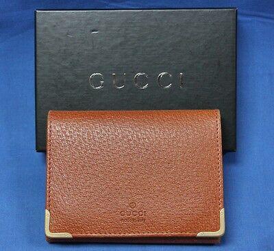 Gucci Brown Leather Men's Wallet/Card Holder