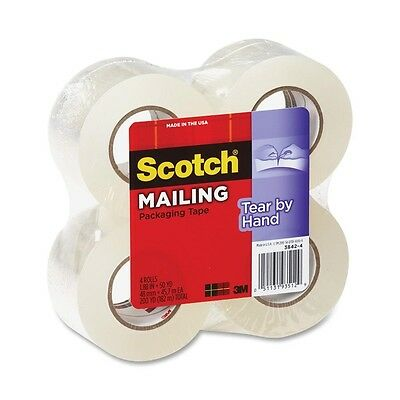 3M Scotch Tear-By-Hand Packaging Tape - 4 per pack
