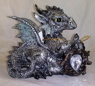 "Baby Dragon with ""Gem"" Statue-E"