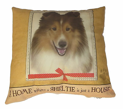 Sheltie Throw Pillow A Home Without is Just a House Dog New Soft Paw Print