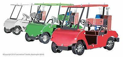 Fascinations Metal Earth 3D Laser Cut Steel Model Kit Golf Cart Set MMS108