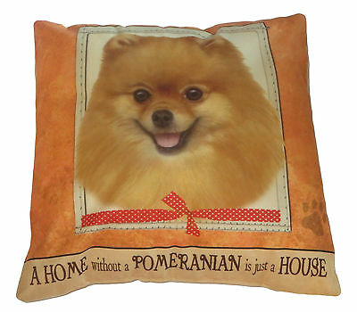 Pomeranian Throw Pillow A Home Without is Just a House Dog New Orange Soft Paw