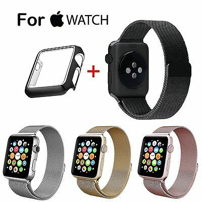 Apple Watch 2 Stainless Steel Band Milanese Magnet Clasp Loop Strap Film iWatch