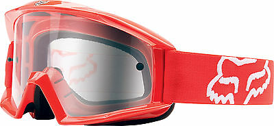 New Fox Racing Main Offroad Motocross Mx Adult Goggles Red/clear
