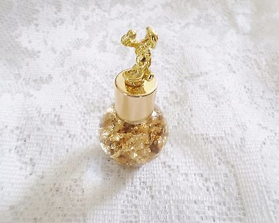 Genuine Gold Flakes in Artland Bottle With Gold Panner Miner Lid Decorative