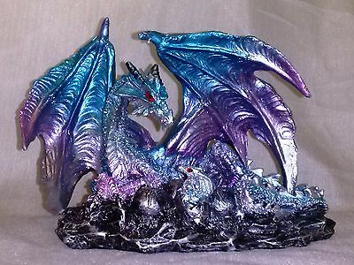 Mother Dragon With Eggs Statuette-B