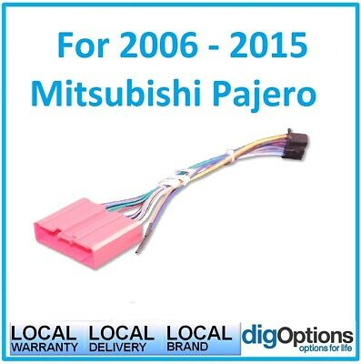 _For 2006 Onwards Mitsubishi Pajero With Steering Cable  Wires Fit ISO Harness