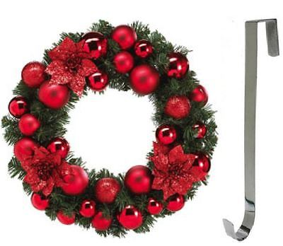 Metal Silver Colour Wreath Hanger Christmas Door Decoration 28cm Party Home Xmas