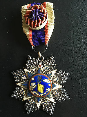 Original China Republic 1935 Order Of The Cloud And Banner 6Th Class Medal