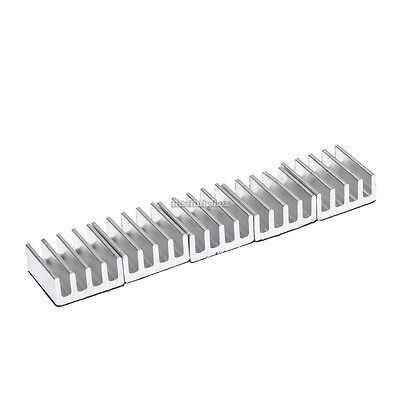 5xHigh Quality 11x11x5mm Adhesive Aluminum Heat Sink For Memory Chip IC N98B