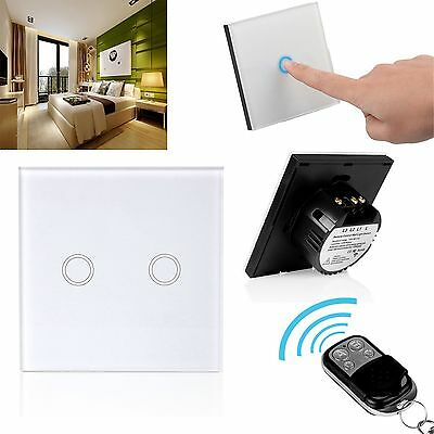1/2/3 Gang Touch Lichtschalter Schalter Kristall Glas Light Switch Haus EU