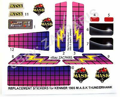 MASK stickers for KENNER M.A.S.K THUNDERHAWK Stickers Personalized with Extra's