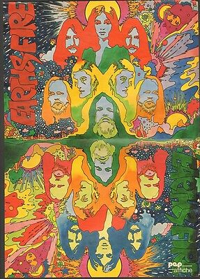 EARTH & and FIRE POSTER & black/white PHOTO magazine PEP 1970-73 Dutch NEDERPOP