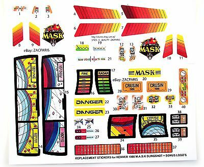 Stickers for KENNER M.A.S.K SLINGSHOT Stickers Personalized