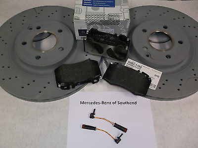 NEW Genuine C-Class W203 Front Brake Pads & Discs Package Set RRP £233