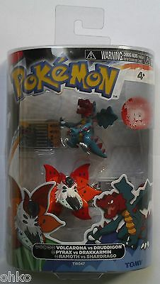 Pokemon Tomy 2-Pack Figures - Volcarona Vs Druddigon - Brand New & Sealed
