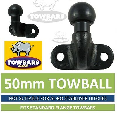 Standard Towball Tow Ball  50mm EC Approved for Flange Towbars EC Approved