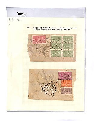 AQ170 c1959 NEPAL Covers with Official stamps