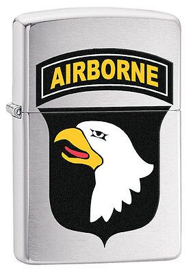 Zippo 29185, US Army 101st Airborne-Eagle,  Brushed Chrome Lighter
