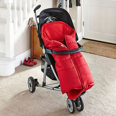 New Clair De Lune Red Cocoon Fleece-Lined Pushchair Footmuff Baby Cosytoes
