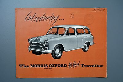 Vintage Brochure: Morris Oxford Traveller Estate Series IV MK4 H&E 5749 1950s