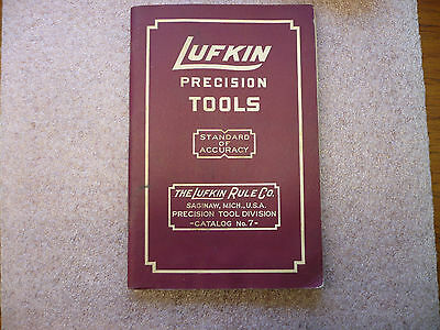 Lufkin Precision Tools  Catalog No. 7 with Prices