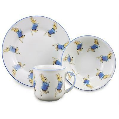 Peter Rabbit 3 Piece Child's Set Porcelain Mug, Bowl  & Plate Reutter Giftware