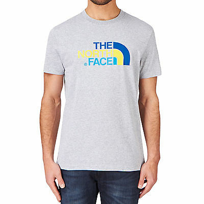 The North Face Mens Short Sleeve Crew Neck T Shirt Top - Grey - XL (B GRADE)