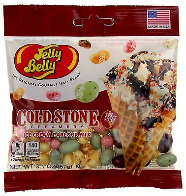 Jelly Belly Cold Stone Ice Cream Parlour Mix Beans Lot of 3 Bags 3.1oz Made USA